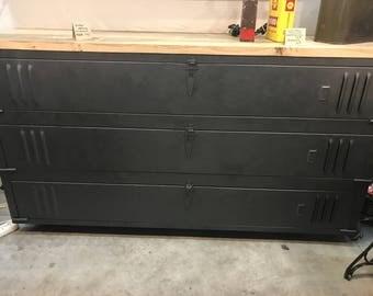 buffet industrial locker upcycle