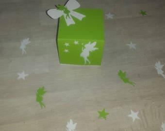 5 boxes dragées fairy christening wedding baby birthday