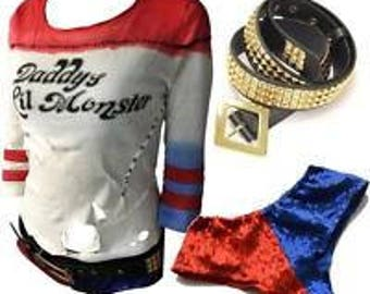 SUICIDE SQUAD Harley Quinn's Cosplay Outfit