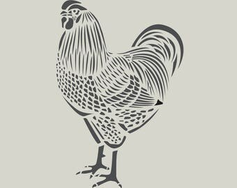 Rooster stencil. Great stencil adhesive vinyl. Katagami (ref 491)
