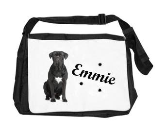 Shoulder bag Cane corso personalized with name