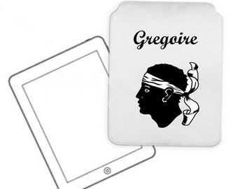 Cover for tablet pc Corsica personalized with name