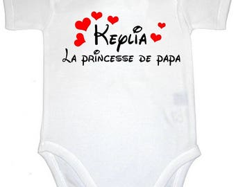 Onesie Princess dad personalized with name