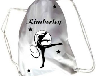 Gym gymnastics pool bag personalized with name