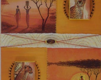 Painting of African patterns. Free shipping.
