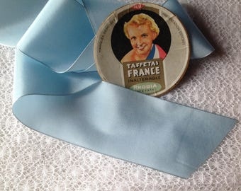 Vintage sky blue coloured acetate Ribbon
