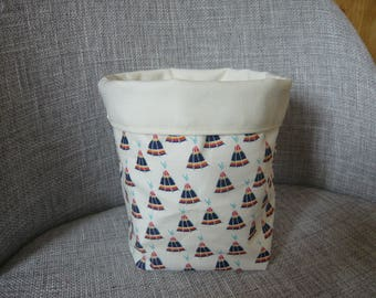 storage basket Ecru patterns Teepees