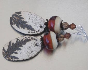 Earrings: Ivory Nature - amber