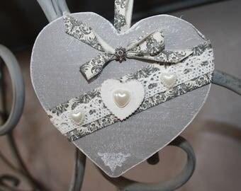 Scented heart romantic decor plaster