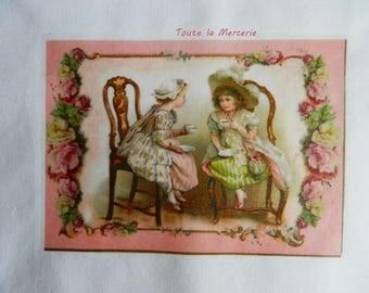 transfer 100.   transfer on fabric: transfer: children tea