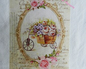 transfer 126. set of textile transfer: beautiful SHABBY STYLE. BEAUTIFUL ROSES