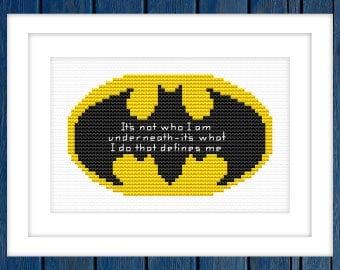 Batman - cross stitch pattern   Superheroes cross stitch  Marvel cross stitch  Comics cross stitch  Fans cross stitch  Movie cross stitch 