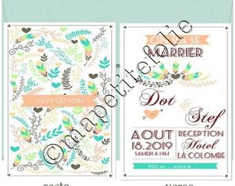 Wedding Invitation or wedding invitation