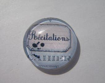 Recitations in 25 mm round domed cabochon