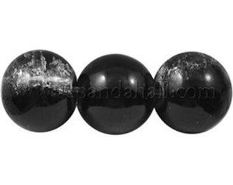Black + White glass Pearl