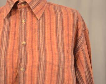 Vertical Rusty Browns Strip Shirt
