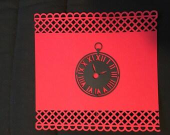 Clock for scrapbooking die cut