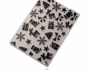card with embossed embossed Christmas scrapbooking