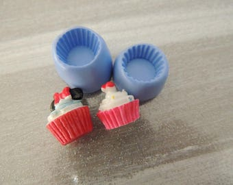Set of 2 Basic cup cake mold for polymer clay 1.5 / 6mm and 1.5 / 1 cm approx