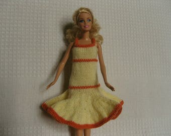 Dress with flared Barbie doll skirt