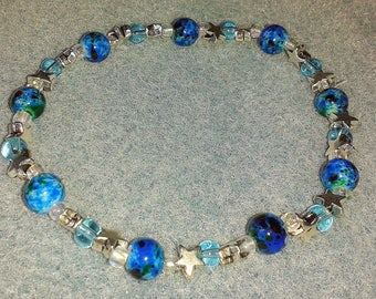 Bracelet turquoise and silver stars