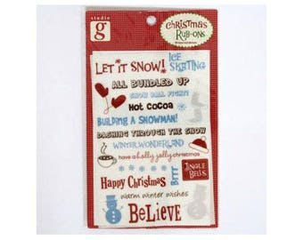 Christmas decals perfect for your cards and Christmas designs - rubons 000618