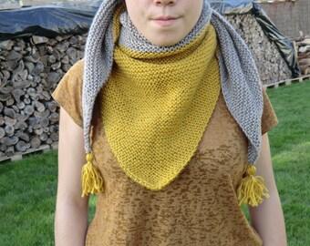 trendy two-tone shawl