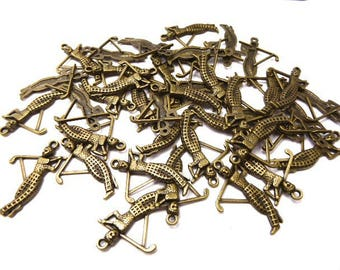 38 charms golfer antiqued bronze 27 * 3 * 21 mm