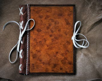 Refillable fauxdori midori journal notebook diary cow and ostrich leather ideal Christmas gift