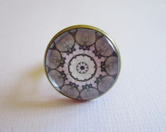 "Ring ""Kaleidoscope"", bronze cabochon, costume jewelry"