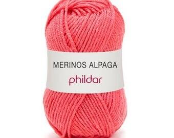 phildar oeillet color Alpaca merino wool yarn