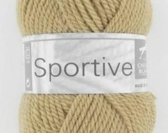 Wool knitting sports grege No. 022 white horse