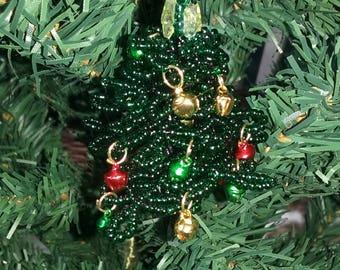 Beads hanging Christmas tree