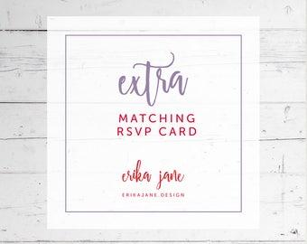Matching RVSP Card   Printable