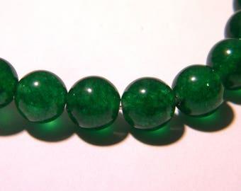 13 jade Mashan 8 mm - green grass - gem stone - K44-4 beads