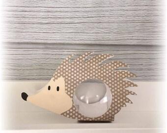 Box christening ball 5cm - themed animal forest Hedgehog