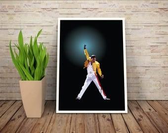 Queen - Freddie Mercury - Digital Print - A3
