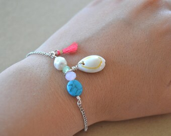 Shell and sea coral bracelet