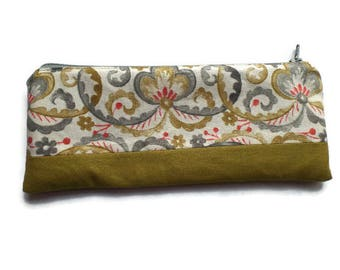 Pencil Case Garthwaite Fabric, Cosmetics Bag, Toiletries Pouch,  Fully Lined, Zippered