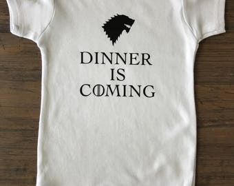 Game of Thrones • baby onesie • kids clothing • customizable • custom order • cotton bodysuit • birthday gift • baby shower gift • mom to be