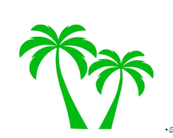 Palm coconut tree applique Thermo flex