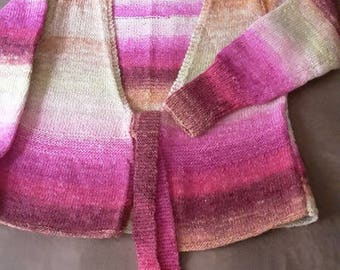 VEST PINK HANDKNITTED mohair and silk