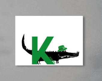 Alphabet Letter K-the alphabet of the animals