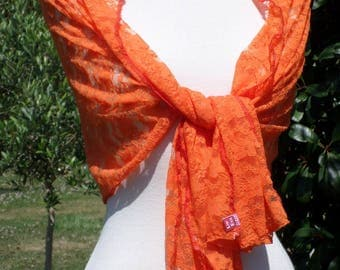 Shawl woman lace pleasant orange wedding