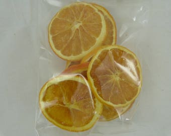 Bag of slices of orange for decoration