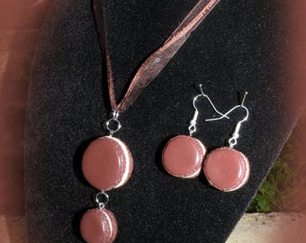 """Finery """"macaroon"""" necklace and earrings"""
