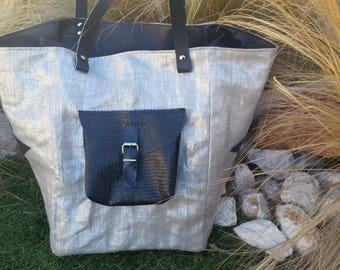 Silver and black Pocket bag