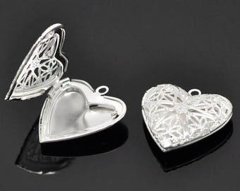 1 pendant holder 26 x 26 mm heart Photo Frame
