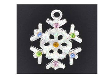 1 charm snowflake 22 x 19 mm Christmas