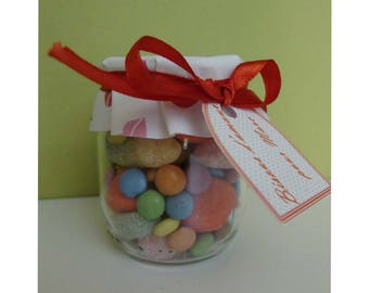 Customized glass jar to fill - Valentine's day Theme